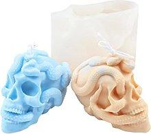 Snake Skull Candle Resin Mold Halloween