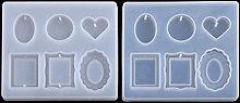 SOFEA DIY Mini pietra preziosa cornice cuore forma