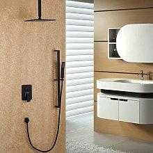 Soffione doccia a soffitto e sistema doccetta