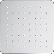 Soffione doccia quadrato in acciaio 40x40