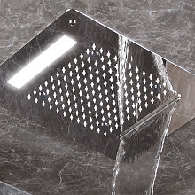 Soffione doccia rettangolare ad incasso 35x45 cm a