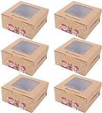 SOIMISS 6 Pezzi Scatole di Carta Kraft Natalizia