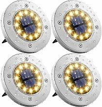 Solar Street Lights, Set di 4 12 LED Solar Lights