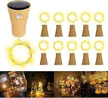 Solare Luci Stringa per Bottiglia di Vino, 10 Pack