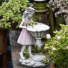 Solaree Fiore Fata Statue Da Giardino,Resina Angel