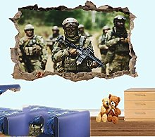 Soldiers Combat Camouflage Adesivo Murale Poster