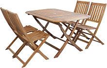 SOLEA - set tavolo da giardino pieghevole