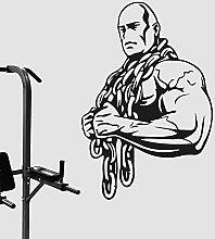 Sollevatore di pesi Palestra Adesivo Fitness