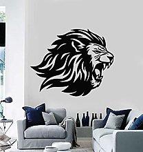 SONGWEOK Vinile adesivo arrabbiato testa di leone