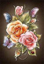 SongYww 5D Diamond Painting Kit Completo Rosa Rosa
