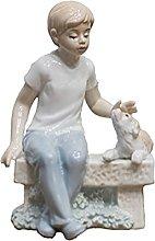Soprammobile Famiglia Ceramica Moderna Figura