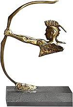 Soprammobile Famiglia Metallo Busto Statua Vintage