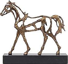 Soprammobile Famiglia Ottone Cavallo Statua in
