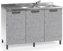 Sottolavello cucina componibile con ante 120 cm