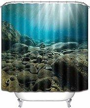 Sottomarino pietra semplicità tenda doccia bagno