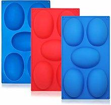 SourceTon - Stampo in silicone per uova di Pasqua,