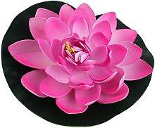 Sourcingmap® - Fiore di loto artificiale, in