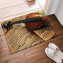 Spartiti musicali per violino decorativo Tappeto