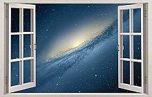 Spazio galaxy stelle 3d vetrofania adesivo da