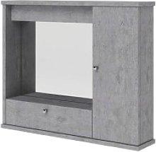 Specchiera bagno grigio cemento mobile arredo
