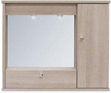 Specchiera bagno mobile arredo moderno 1 anta con