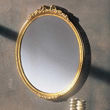 Specchiera ovale dorata