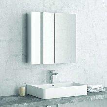 Specchio bagno con 2 ante e contenitore 60cm