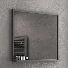 Specchio bagno con cornice nera in acciaio