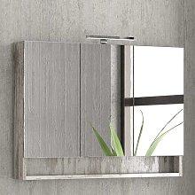 Specchio bagno contenitore 100cm con 3 ante e