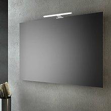 Specchio bagno senza cornice 120x70 Cm Con Led