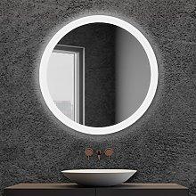 Specchio bagno tondo retroilluminato LED Diam. 80