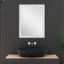 Specchio con Cornice Bianca Mosaico 58x68 cm