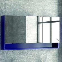 Specchio contenitore 120cm con 3 ante e ripiano