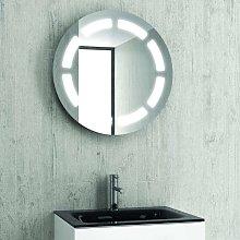 Specchio contenitore tondo diametro 63cm led