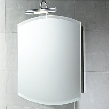 Specchio Contenitore Tondo Per Bagno In Acciaio