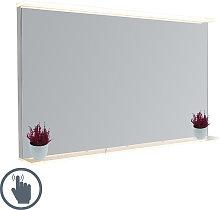 Specchio da bagno 60x100 cm LED dimmer tattile e