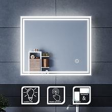 Specchio da Bagno a LED da Muro, 60x50cm Specchio