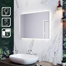 Specchio da Bagno a LED da Muro 70 x50cm, Specchio
