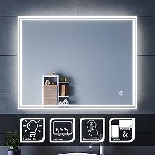 Specchio da Bagno a LED da Muro, 70x90cm Specchio