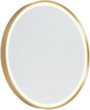 Specchio da bagno rotondo oro LED dimmer tattile -
