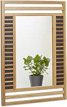 Specchio da Parete con Cornice in Bambù,
