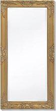Specchio da Parete Stile Barocco 100x50 cm Dorato