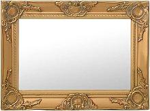Specchio da Parete Stile Barocco 60x40 cm Oro -