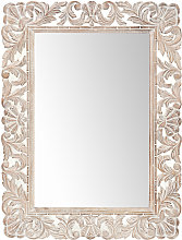 Specchio in mango sbiancato 60x80 cm