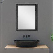 Specchio Nero con Cornice Mosaico 58x68 cm