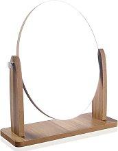 Specchio per il trucco in legno con cornice in