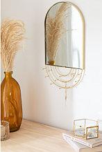 Specchio portagioie da parete di metallo Loan