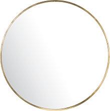 Specchio rotondo in metallo dorato, 101 cm