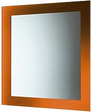 Specchio Senza Luci Con Cornice Arancio Vetro