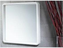 Specchio Senza Luci Con Cornice Bianco Abs 45x45x4